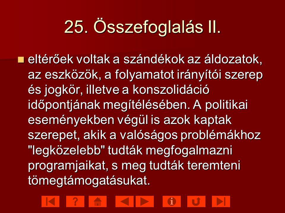 25. Összefoglalás II.