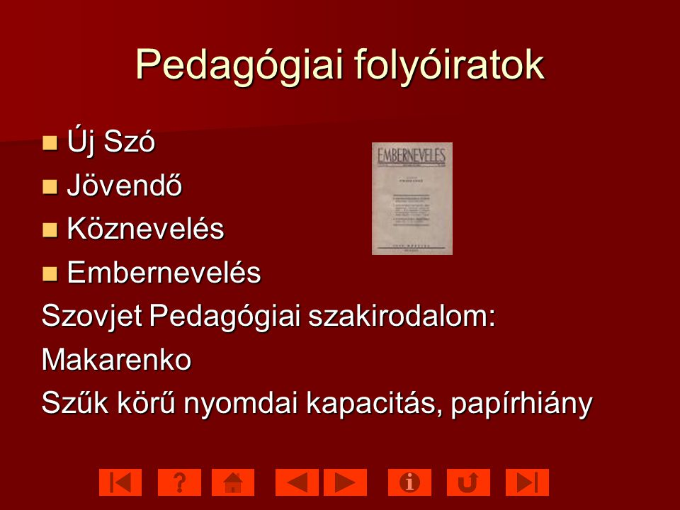 Pedagógiai folyóiratok