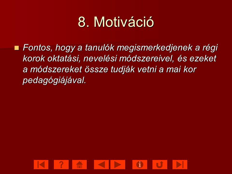 8. Motiváció