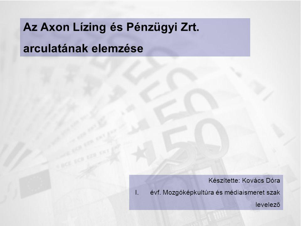 Az Axon Lízing és Pénzügyi Zrt. arculatának elemzése