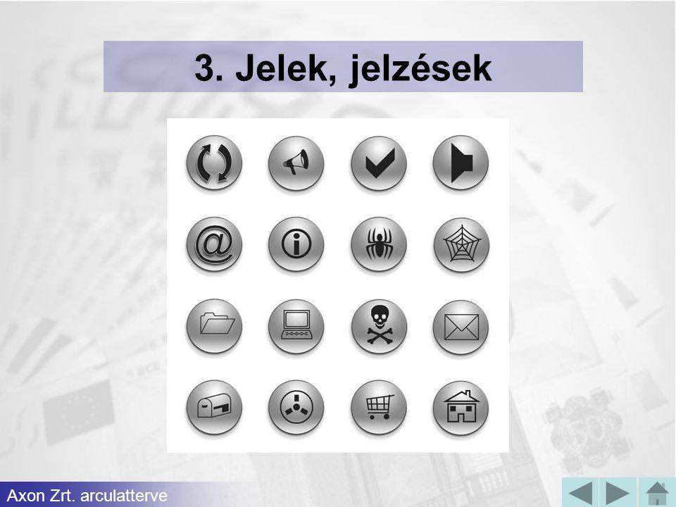 3. Jelek, jelzések Axon Zrt. arculatterve