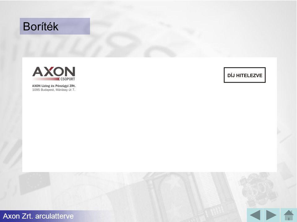 Boríték Axon Zrt. arculatterve