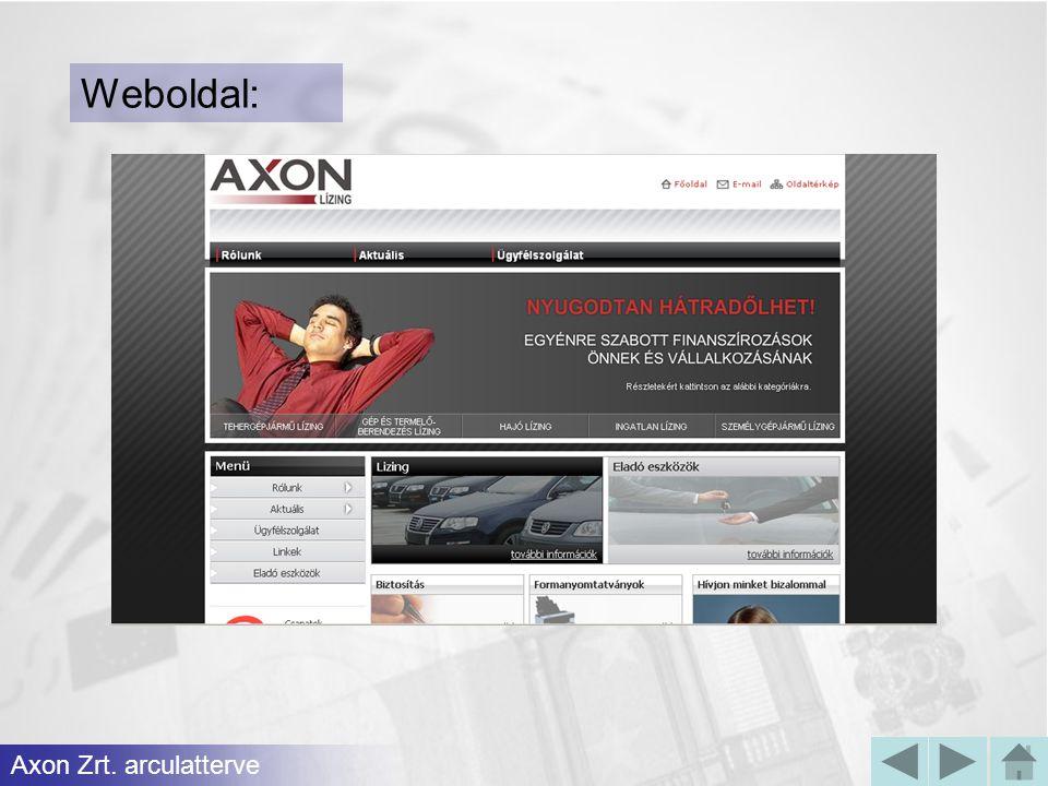 Weboldal: Axon Zrt. arculatterve