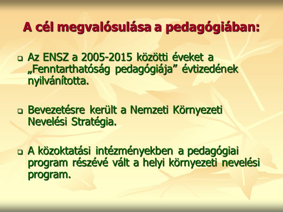 A cél megvalósulása a pedagógiában: