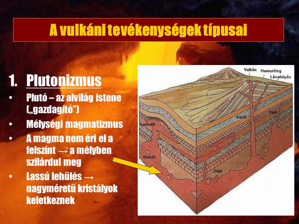 A vulkáni tevékenységek típusai