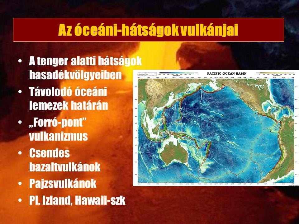 Az óceáni-hátságok vulkánjai
