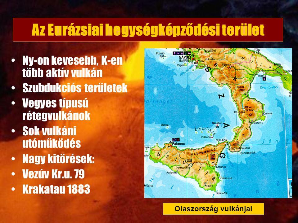 Az Eurázsiai hegységképződési terület Olaszország vulkánjai