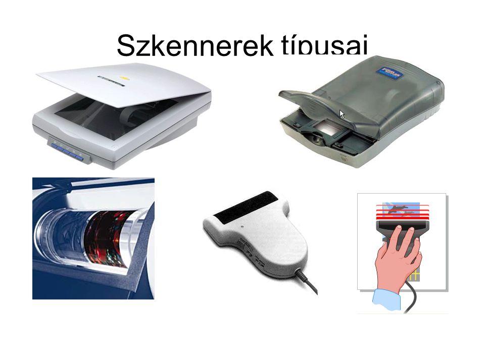 Szkennerek típusai