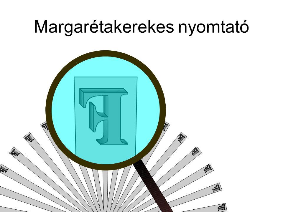 Margarétakerekes nyomtató