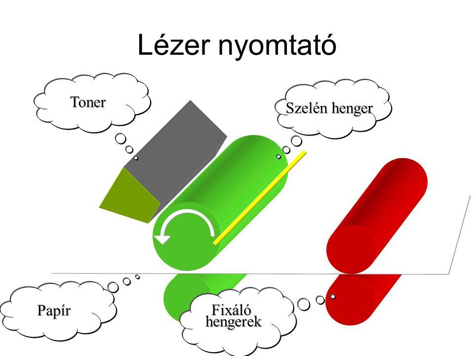 Lézer nyomtató Toner Szelén henger Papír hengerek Fixáló