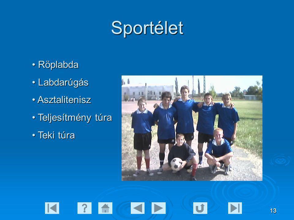Sportélet Röplabda Labdarúgás Asztalitenisz Teljesítmény túra