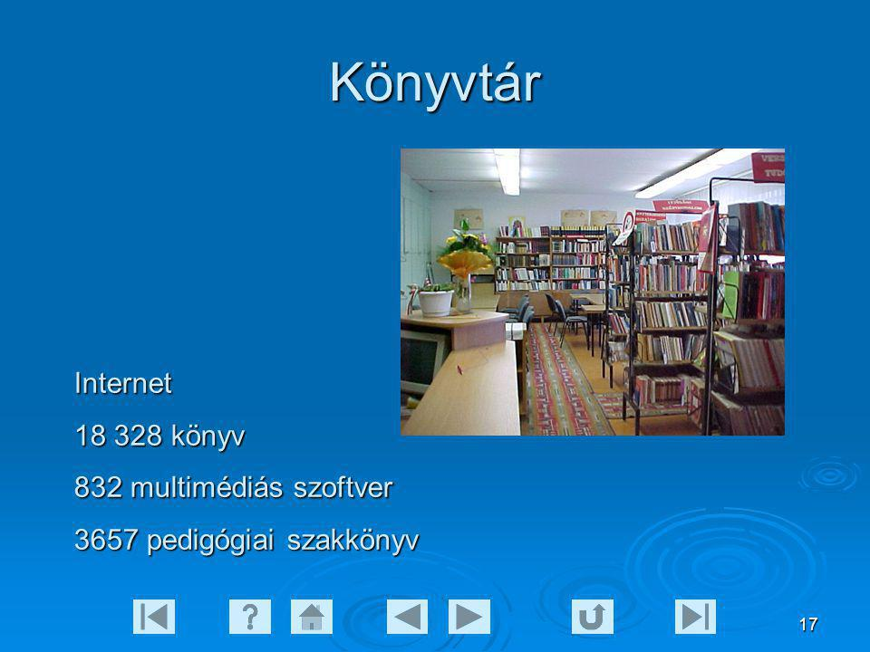 Könyvtár Internet 18 328 könyv 832 multimédiás szoftver