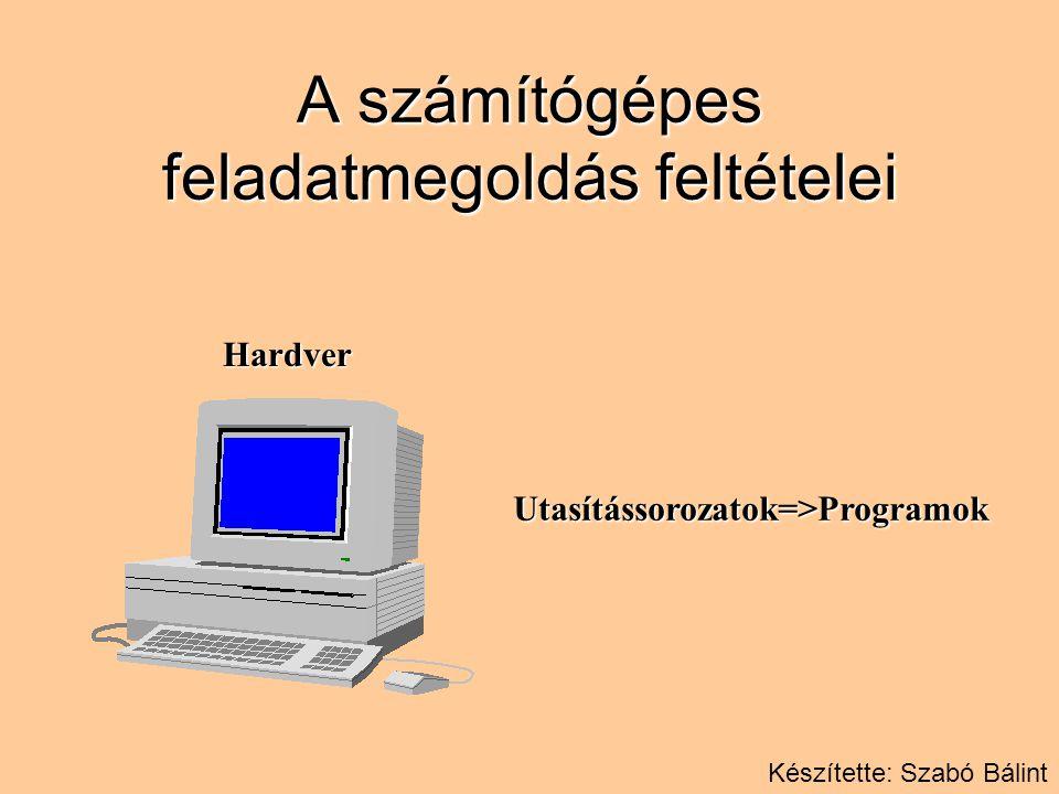 A számítógépes feladatmegoldás feltételei