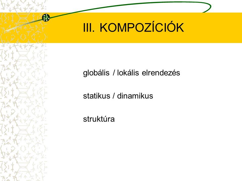 III. KOMPOZÍCIÓK globális / lokális elrendezés statikus / dinamikus