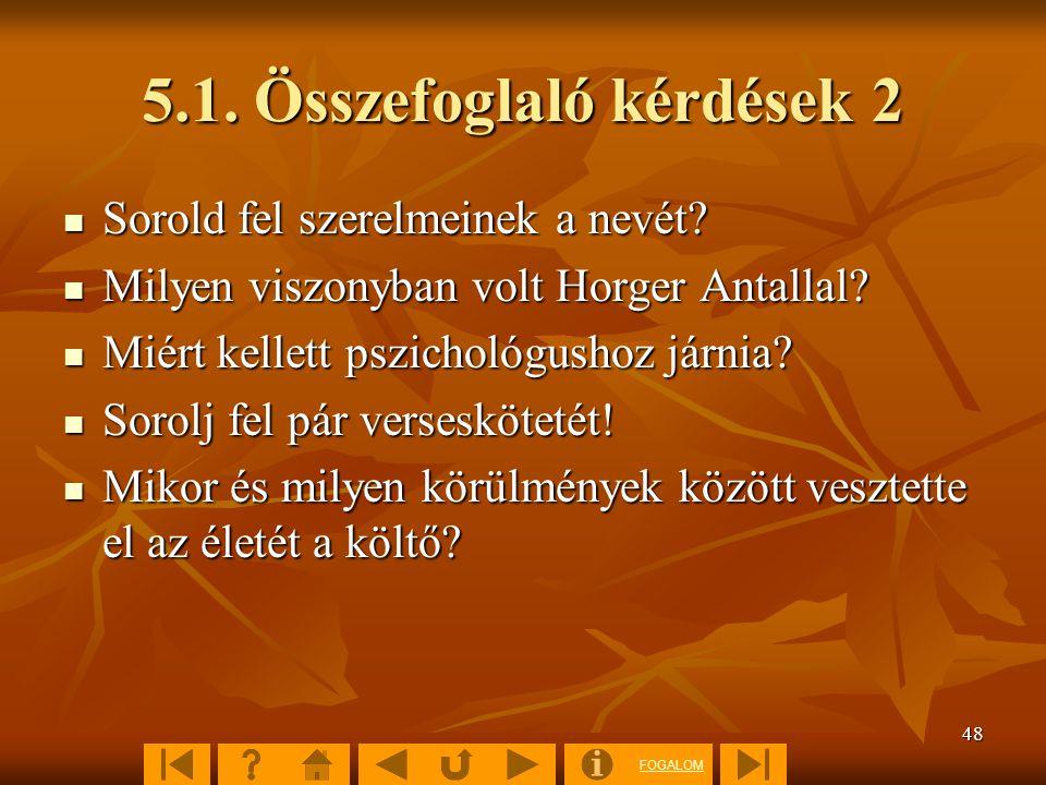 5.1. Összefoglaló kérdések 2