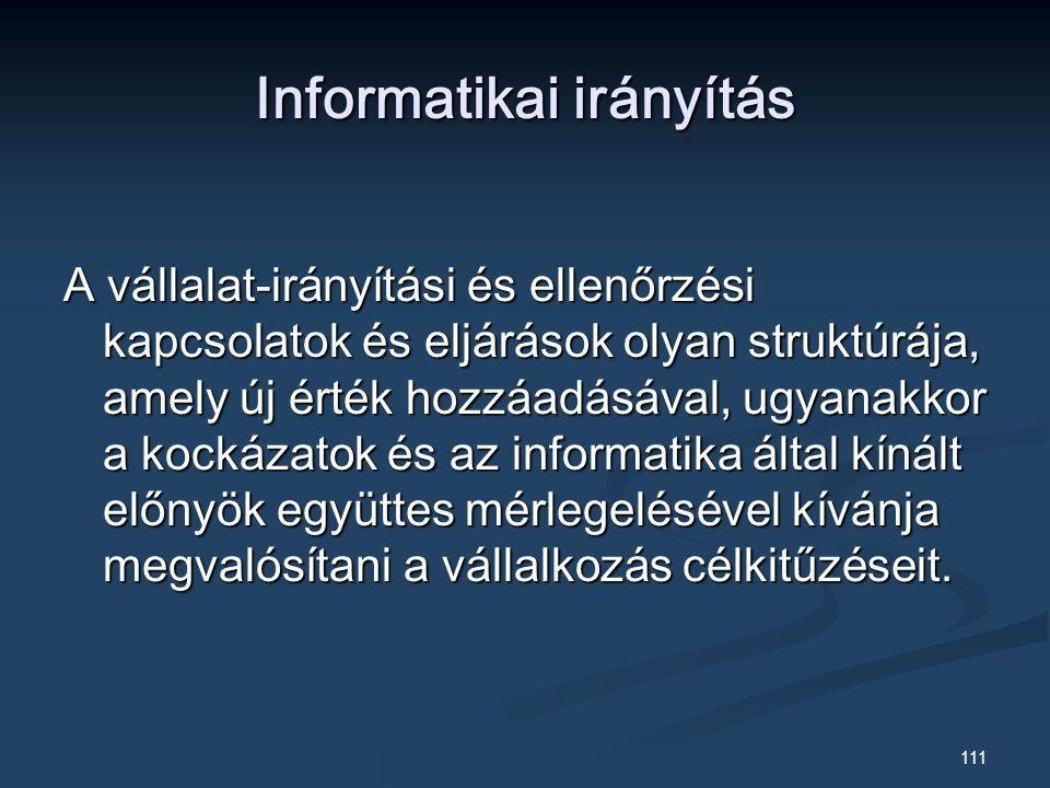 Informatikai irányítás