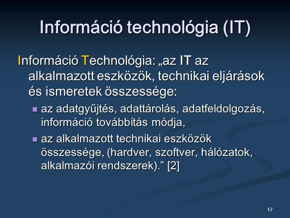 Információ technológia (IT)