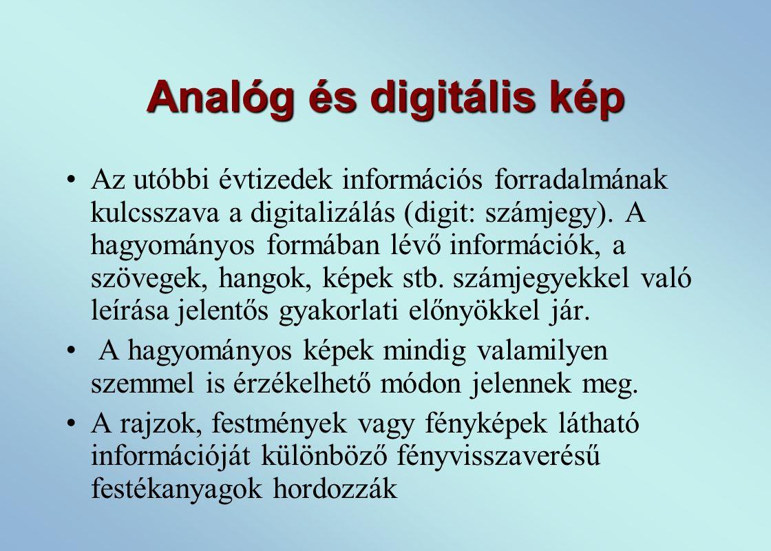 Analóg és digitális kép