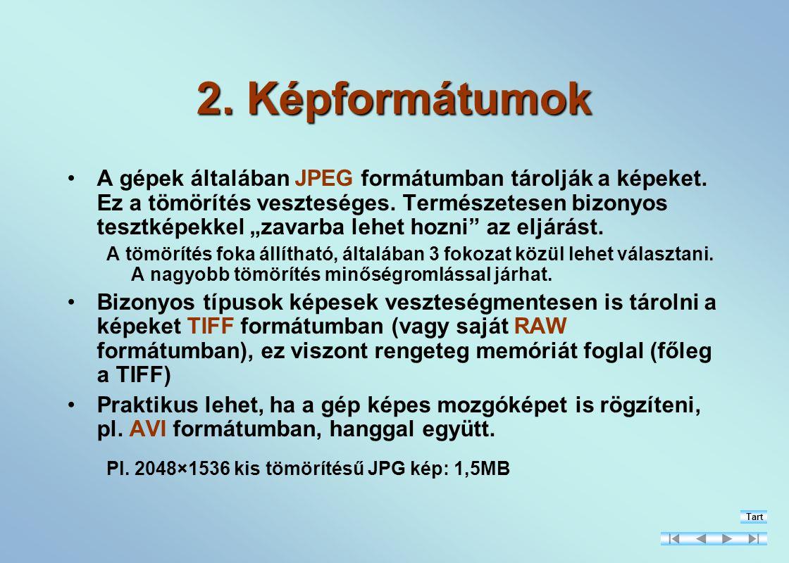 2. Képformátumok