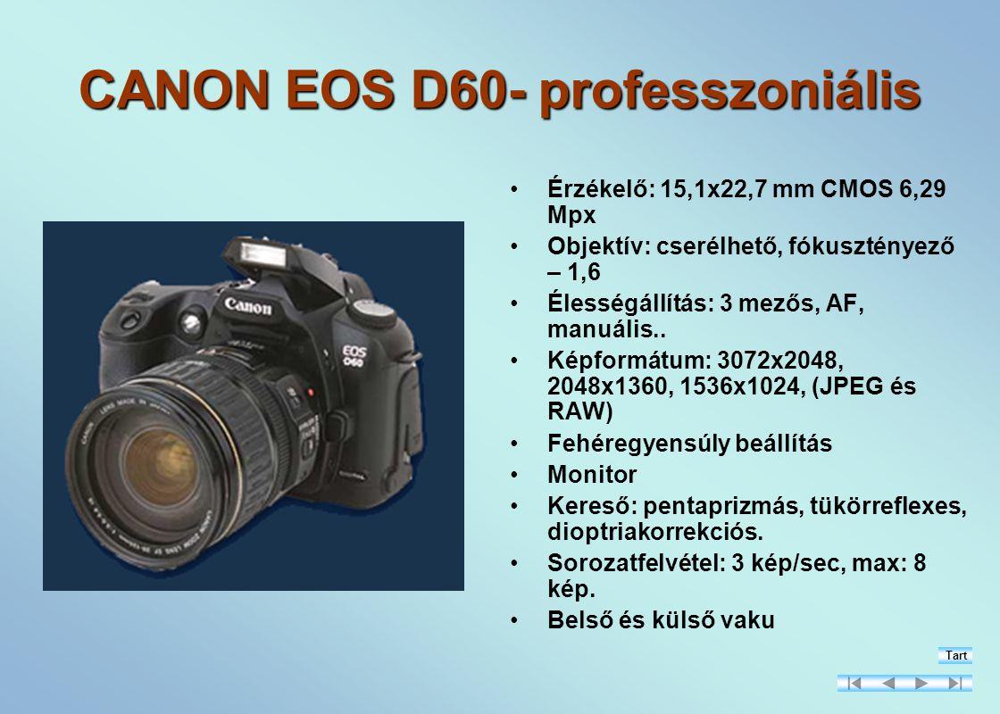 CANON EOS D60- professzoniális