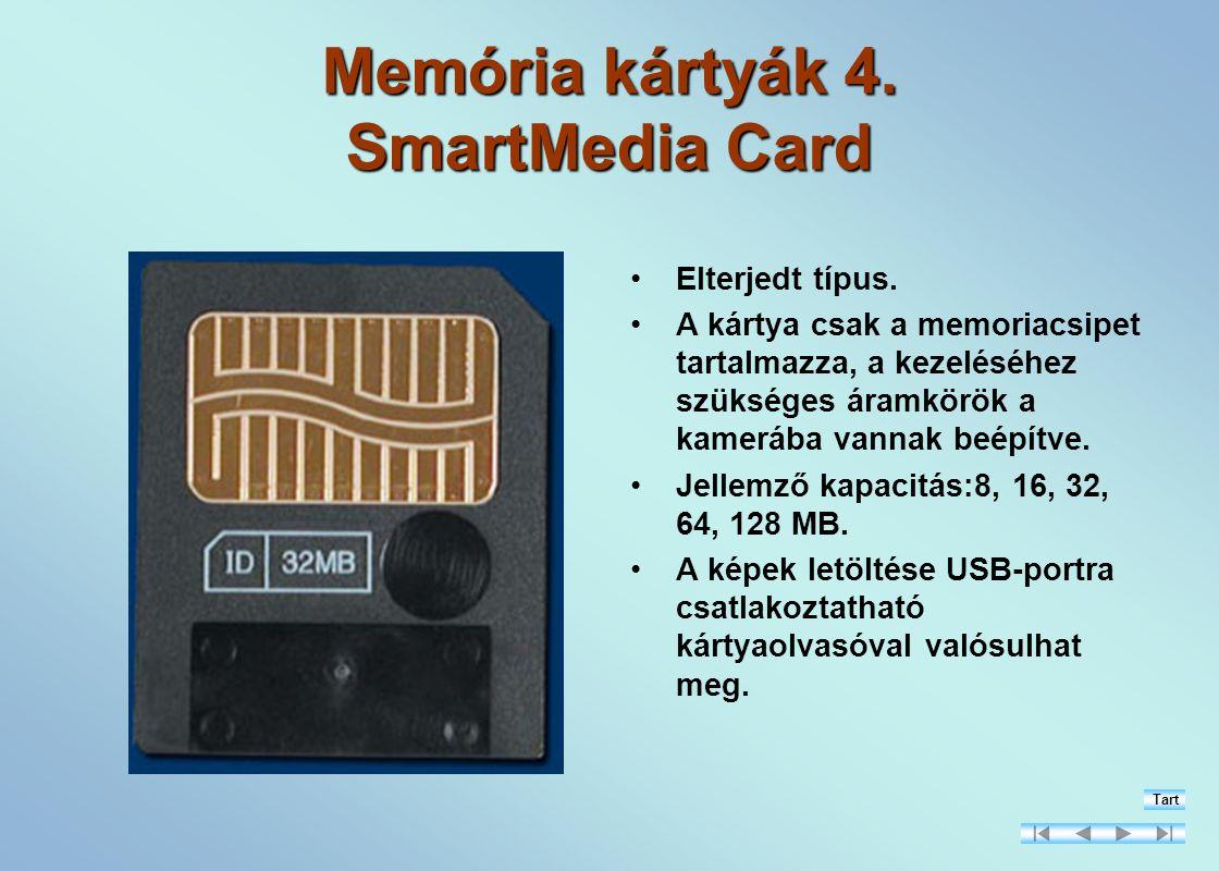 Memória kártyák 4. SmartMedia Card