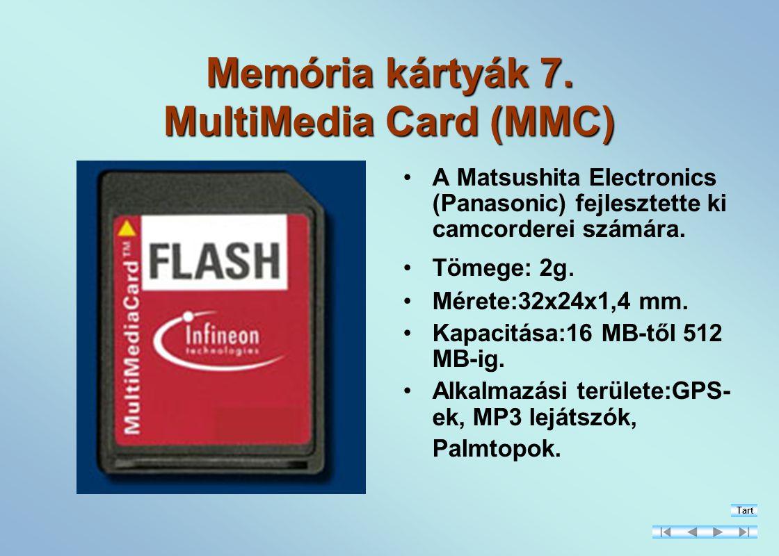 Memória kártyák 7. MultiMedia Card (MMC)