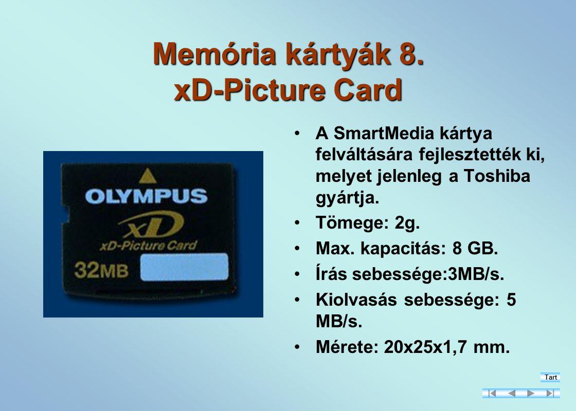Memória kártyák 8. xD-Picture Card