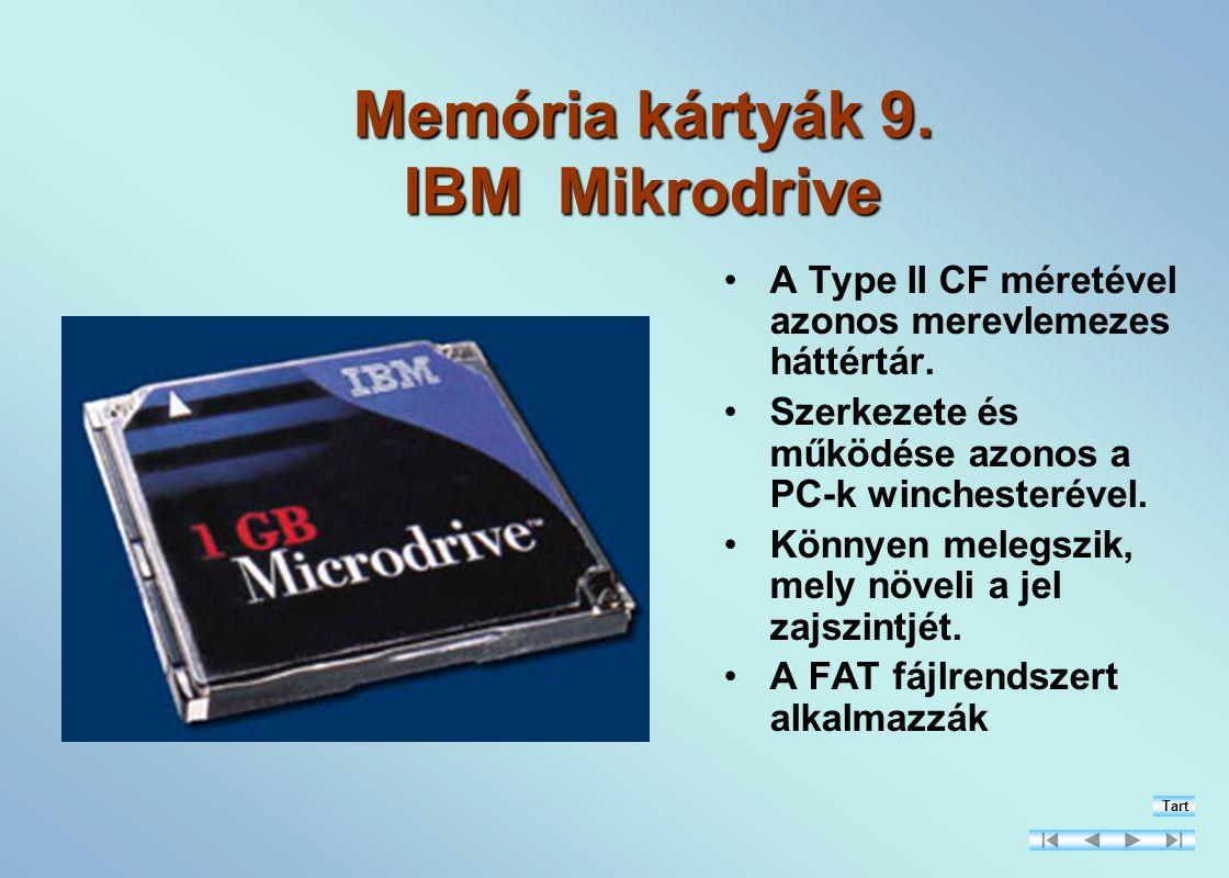 Memória kártyák 9. IBM Mikrodrive