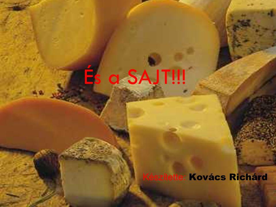 És a SAJT!!! Készítette: Kovács Richárd