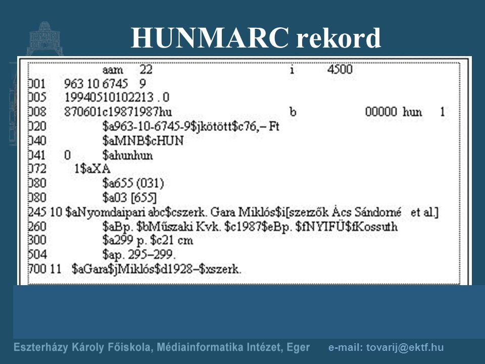 e-mail: tovarij@ektf.hu