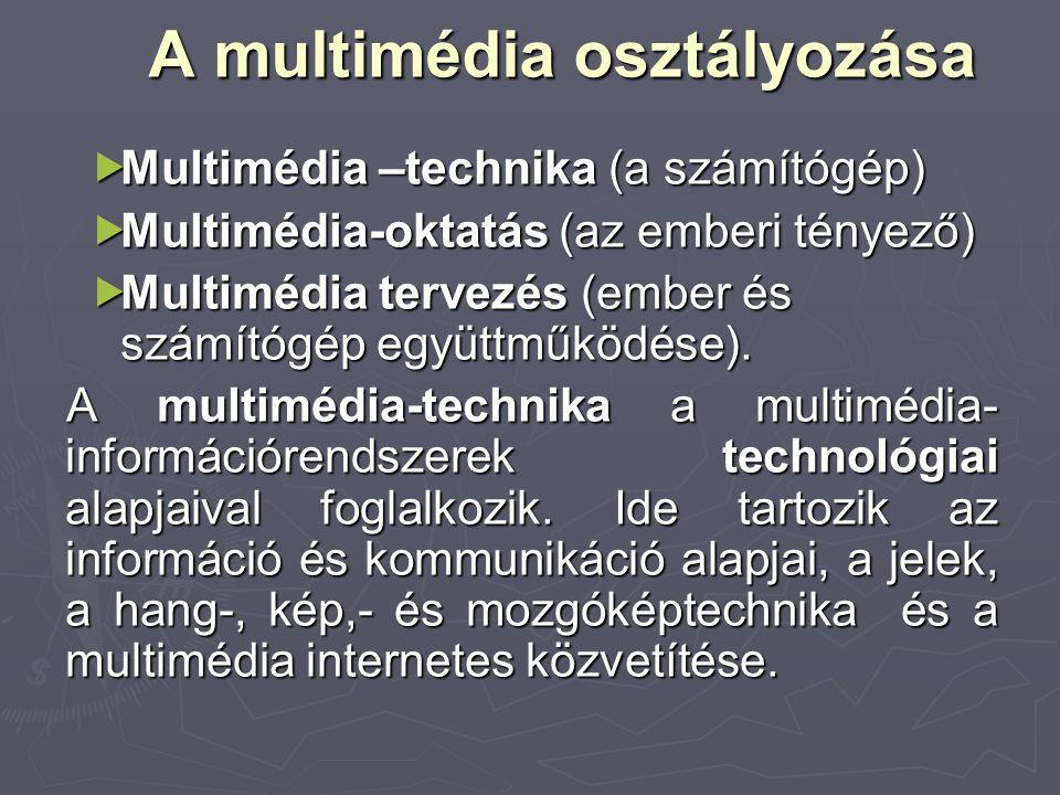 A multimédia osztályozása