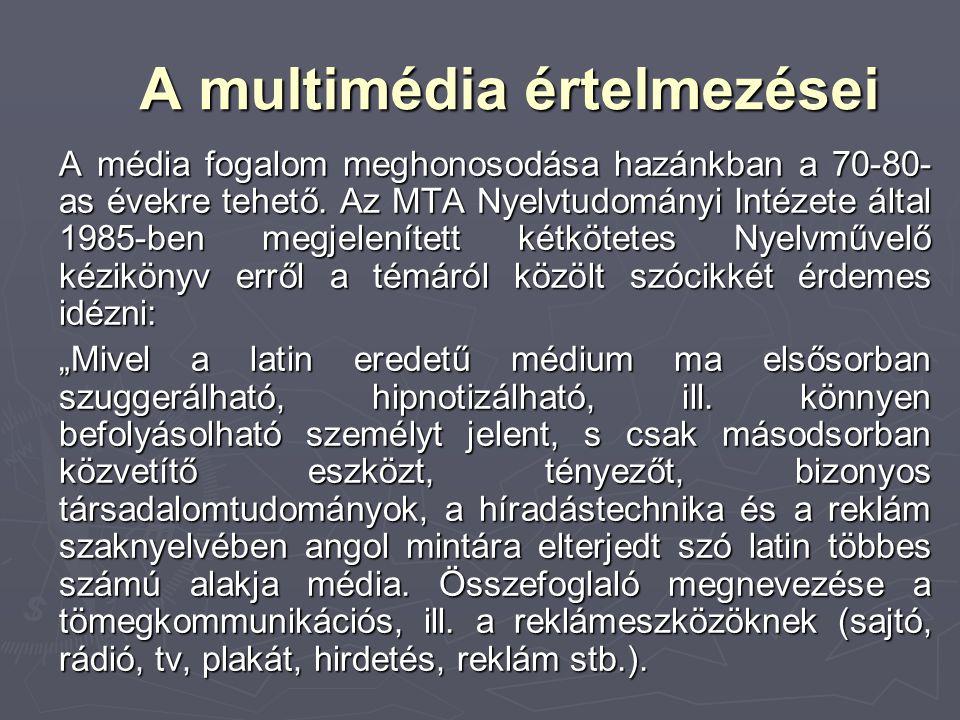A multimédia értelmezései