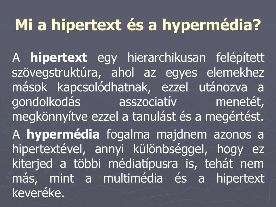 Mi a hipertext és a hypermédia