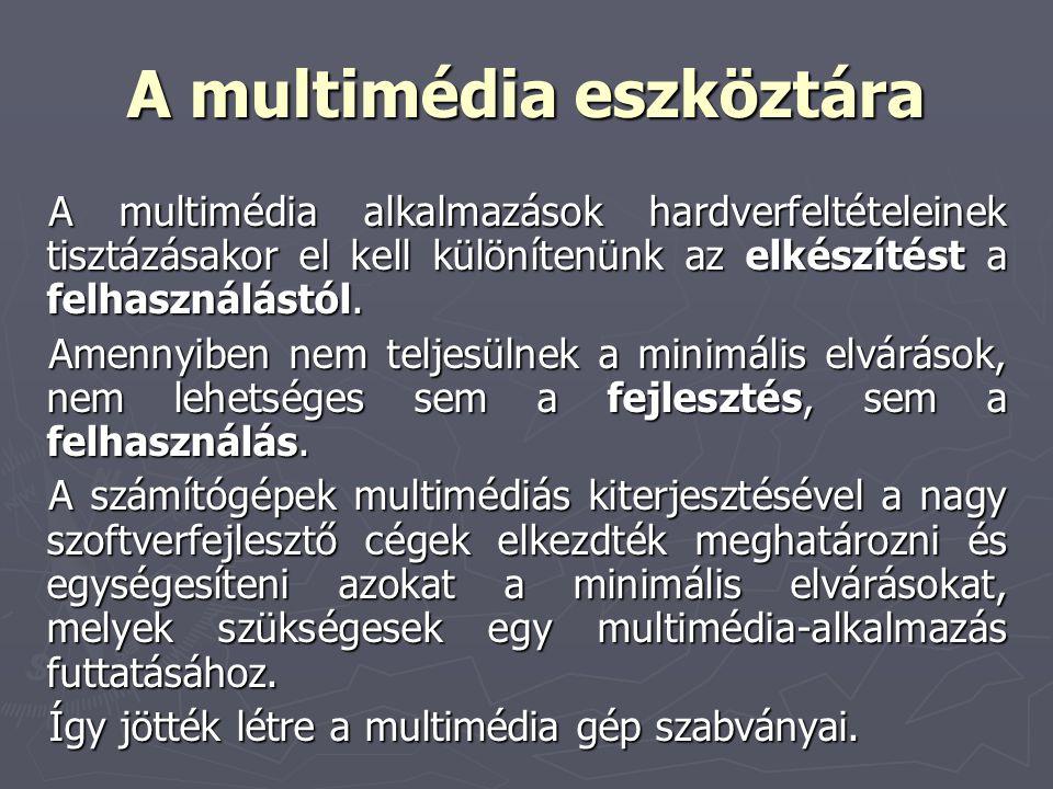 A multimédia eszköztára