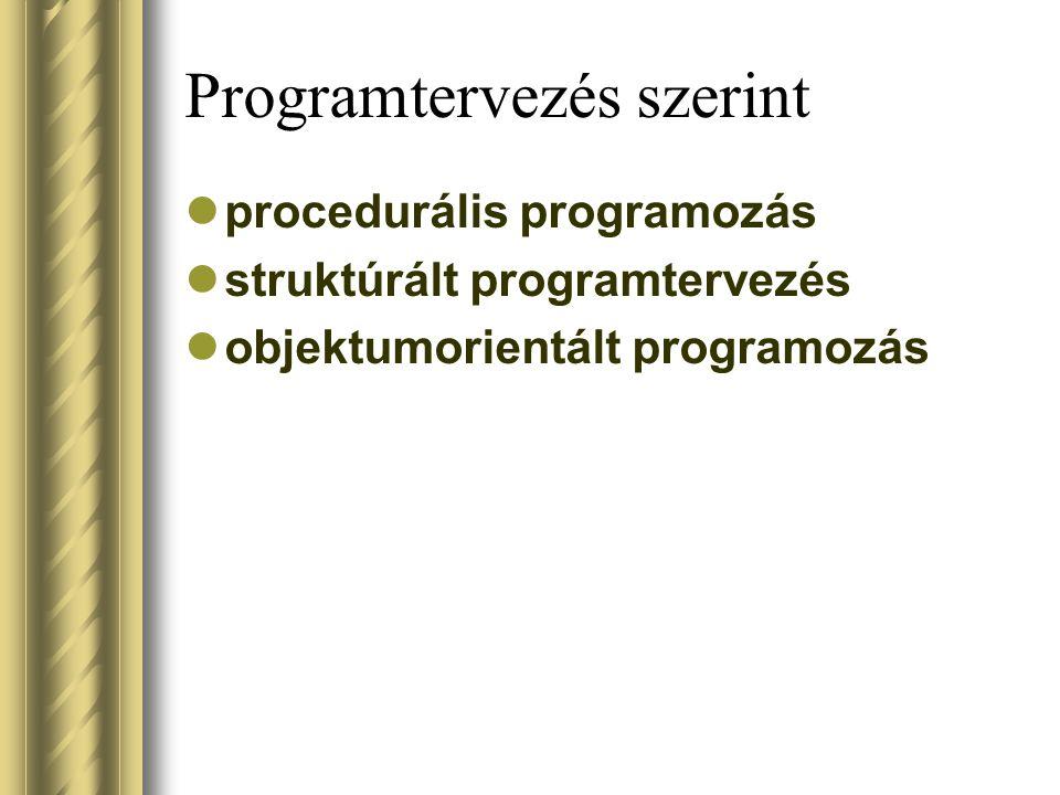 Programtervezés szerint
