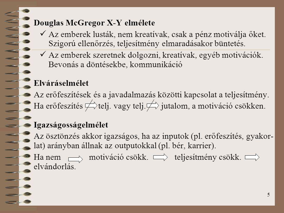 Douglas McGregor X-Y elmélete