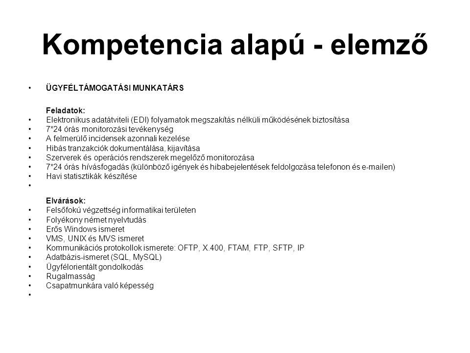 Kompetencia alapú - elemző