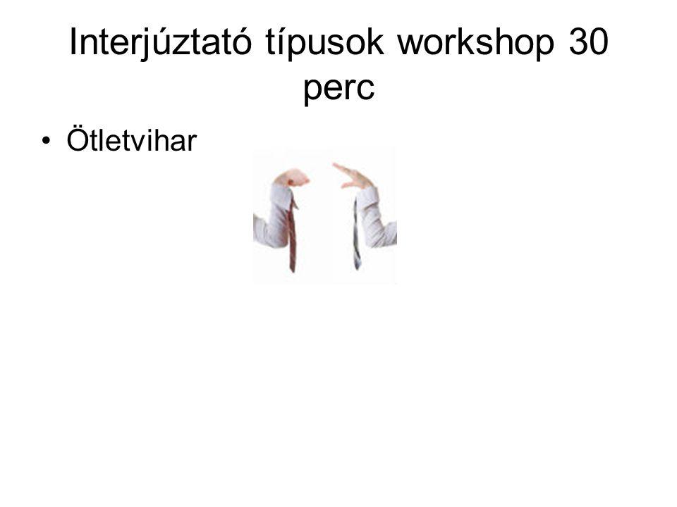Interjúztató típusok workshop 30 perc