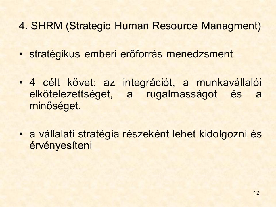 4. SHRM (Strategic Human Resource Managment)