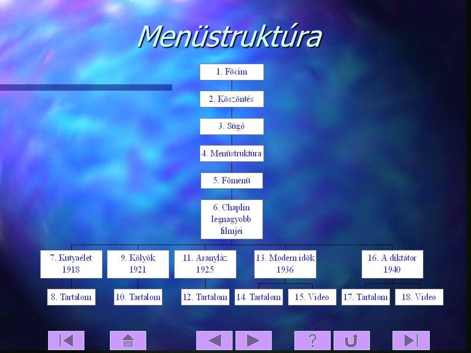 Menüstruktúra