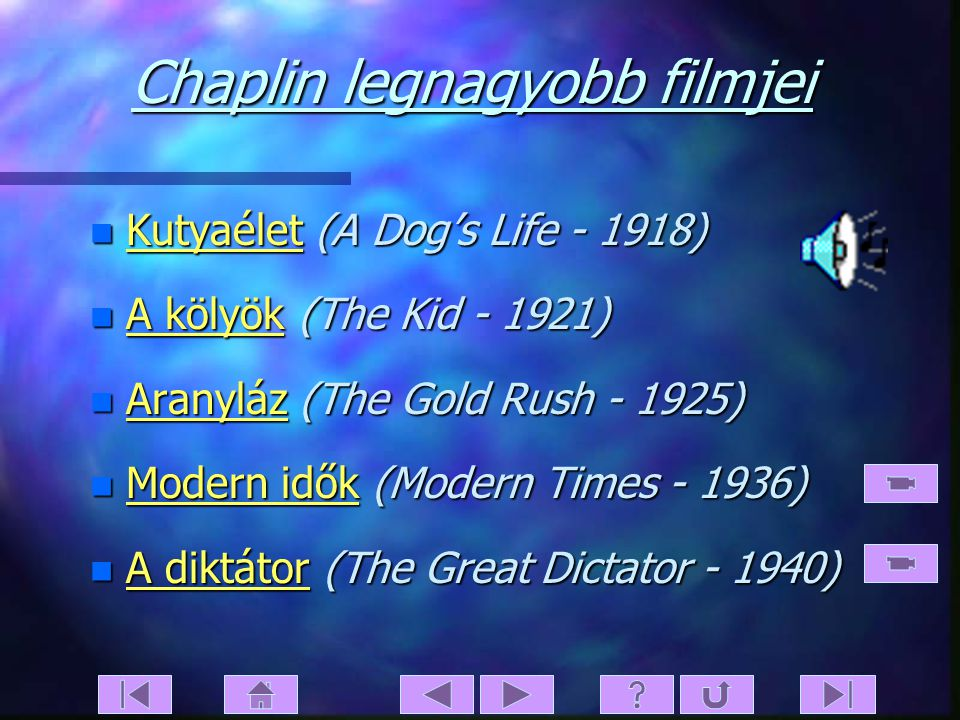 Chaplin legnagyobb filmjei