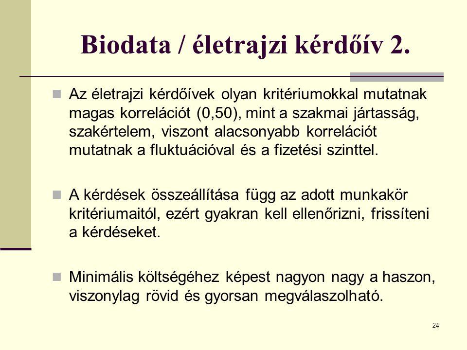 Biodata / életrajzi kérdőív 2.