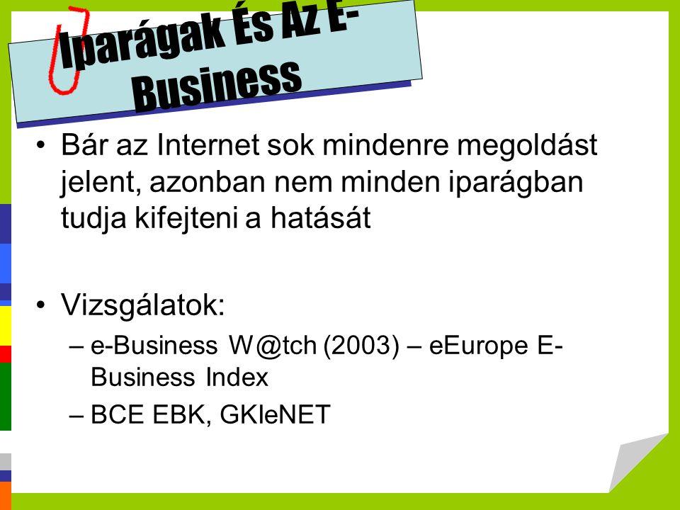 Iparágak És Az E-Business
