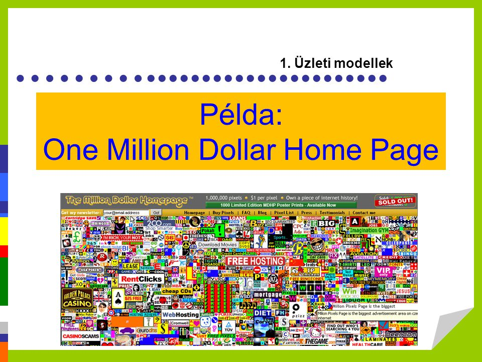 Példa: One Million Dollar Home Page