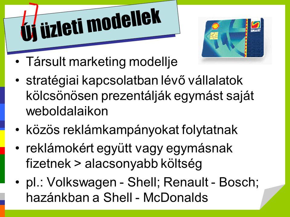 Új üzleti modellek Társult marketing modellje