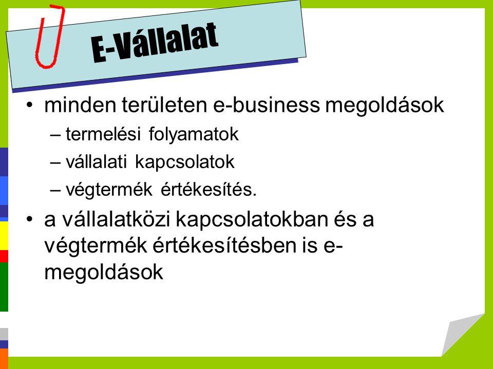 E-Vállalat minden területen e-business megoldások