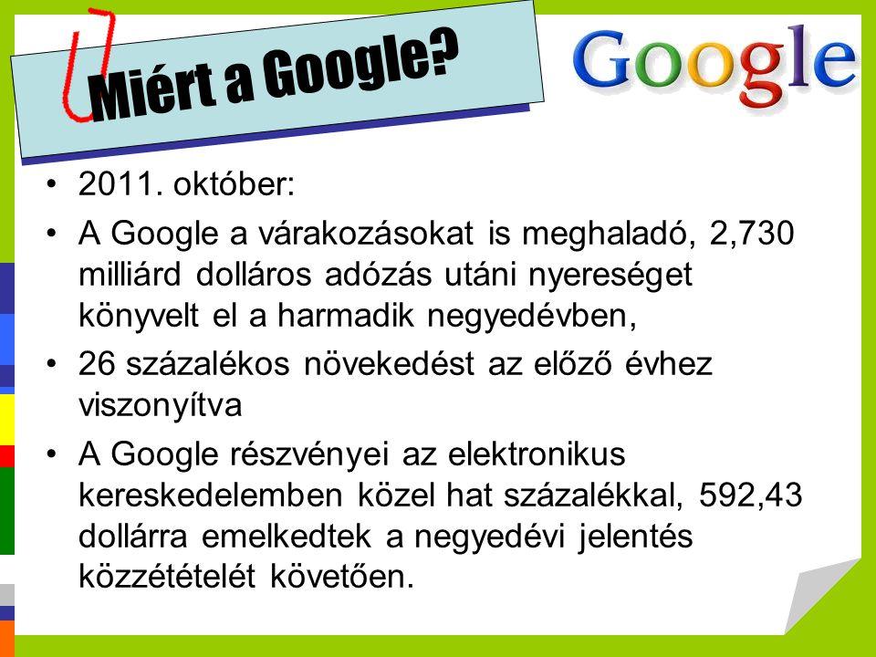 Miért a Google 2011. október: