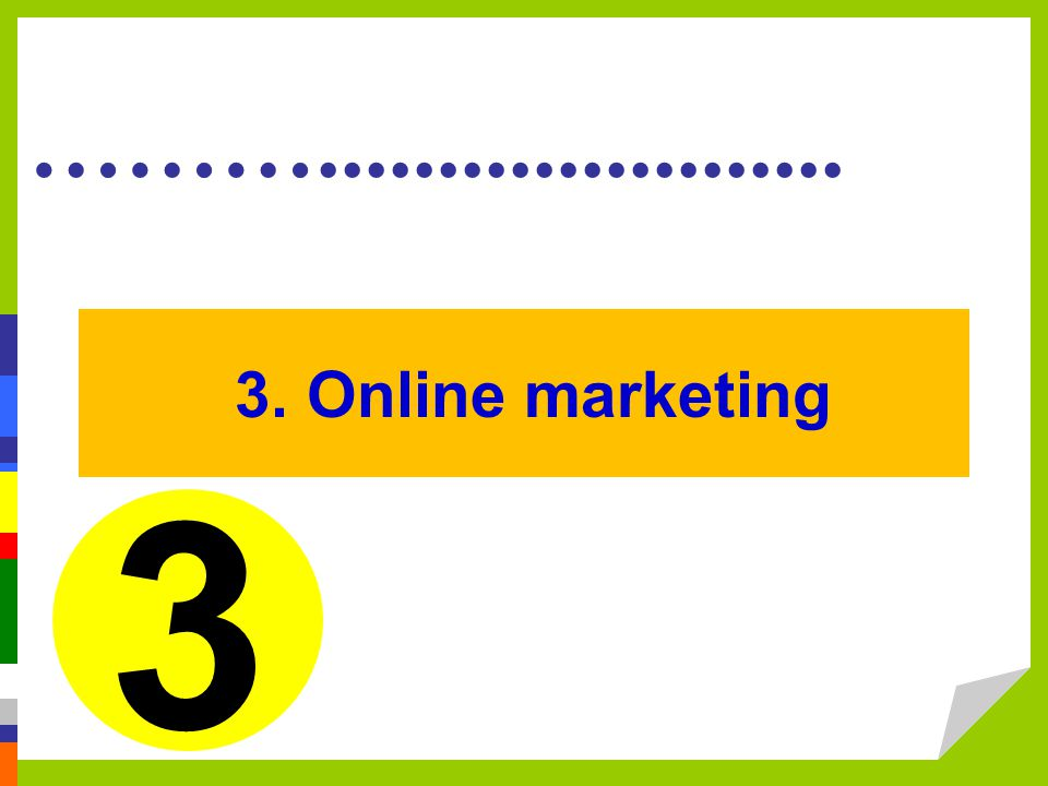 3. Online marketing 3.
