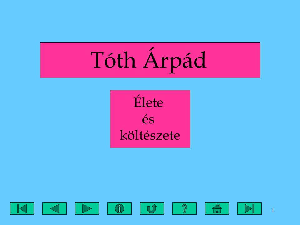 Tóth Árpád Élete és költészete