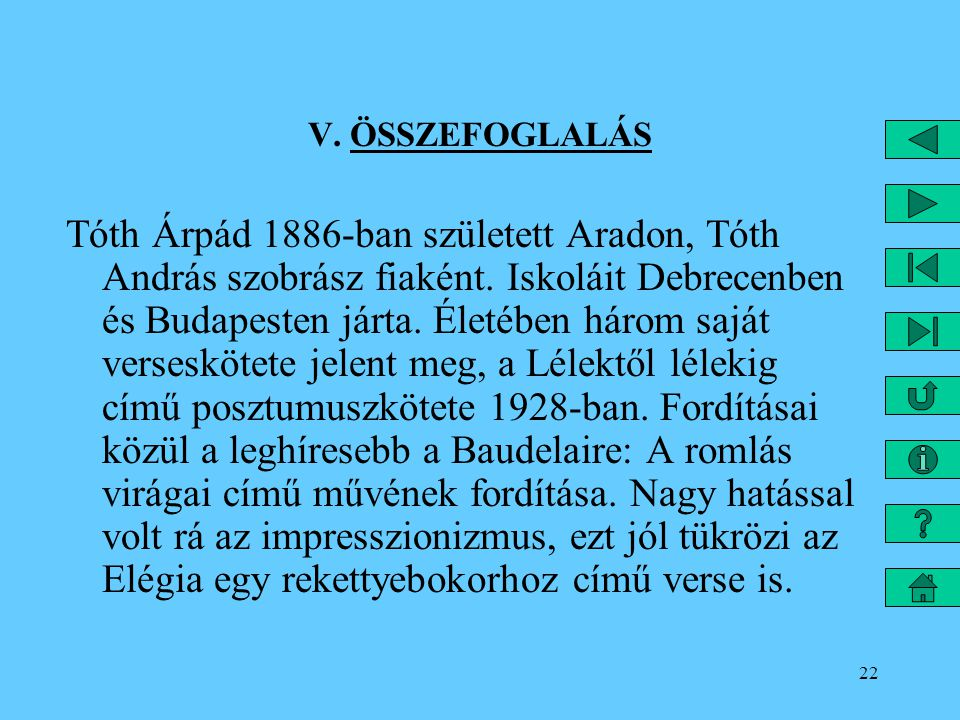 V. ÖSSZEFOGLALÁS